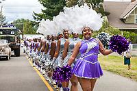 Dolls and Gents Drill Team and Drumline, Kent Cornucopia Days, Kent, Washington State, WA, USA.