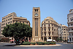 July 2010, LEBANON:  The Place d'Etoile, the centrepiece of the Downtown area of Beirut.   Picture by Graham Crouch