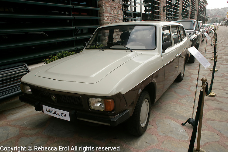 Turkish Anadol SV car (1981 model) on display at the Rahmi M. Koc Museum in Istanbul, Turkey