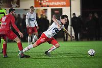 FC GULLEGEM - KV KORTRIJK :<br /> vriendschappelijke wedstrijd<br /> Efram Vansuypeene (L) en Hannes Van Der Bruggen (R)<br /> <br /> Foto VDB / Bart Vandenbroucke
