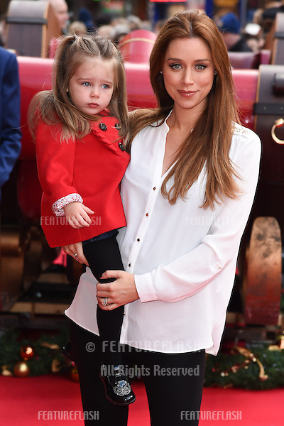 """Una Foden and daughter Aoife arrives for the """"Get Santa"""" premiere, Vue Leicester Square, London. 30/11/2014 Picture by: Steve Vas / Featureflash"""
