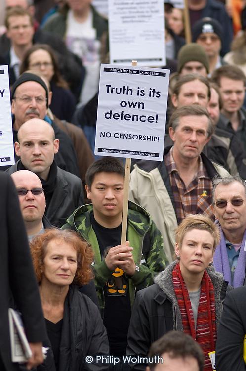 March for Free Expression, Trafalgar Square, London