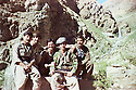 Iraq 1988 .Hussein Sinjari in the mountains after Anfal with peshmergas.Irak 1988.Hussein Sinjari dans les montagnes avec des peshmega apres l'Anfal