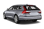 Car pictures of rear three quarter view of a 2017 Volvo V90 Inscription 5 Door Wagon angular rear