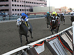 April 4, 2015: Frosted with Joel Rosario wins the Grade I Twinspires.com Wood Memorial for 3-year olds, going 1 1/8 mile at Aqueduct Racetrack. Trainer: Kiaran McLaughlin. Owner: Godolphin Racing LLC. Sophie Shore/ESW/CSM