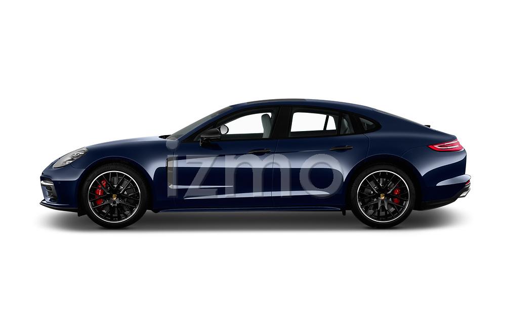 Car driver side profile view of a 2018 Porsche Panamera Turbo Base 5 Door Hatchback
