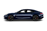 Car driver side profile view of a 2018 Porsche Panamera Turbo Base 5 Door Hatchback