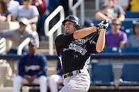 March 13, 2010 - Colorado Rockies' Matt Miller #13 during a spring training game against the Milwaukee Brewers at Maryvale Baseball Park in Phoenix, Arizona.