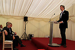 "Alex Conyngham, Earl of Mount Charles speaking at the ground breaking for the new $50 Million Slane Distillery on the grounds of Slane Castle.<br /> Picture Fran Caffrey /Newsfile.ie<br /> <br /> BROWN-FORMAN BREAKS GROUND ON<br /> NEW $50 MILLION SLANE DISTILLERY<br /> <br /> US Ambassador joins Conyngham and Brown families for historic occasion<br /> <br /> Distillery and Visitor Centre to be completed late 2016<br /> <br /> The US Ambassador to Ireland, Kevin F. O'Malley, was guest of honour today at the official ground breaking ceremony for the $50 million (approximately €44 million) Slane Distillery on the historic Slane Castle Estate in Co. Meath, home of Henry Conyngham, the eighth Marquess Conyngham, and his son Alex Conyngham, Earl of Mount Charles.<br />  <br /> The distillery, which will also include a Visitor Centre, is being built by leading US Drinks firm Brown-Forman Corporation, the owners of Jack Daniel's, Southern Comfort and Woodford Reserve which bought all shares of Slane Irish Whiskey Company from the Conyngham family earlier this year.  The Conynghams remain centrally involved in the development of the new distillery and the new whiskey brands which will be introduced in early 2017. <br />  <br /> This is the first new distillery Brown-Forman has built outside of the US and represents its entry into distilling Irish whiskey, one of the fastest growing spirits categories over the last few years.  When completed by the end of 2016, Slane Distillery will create nearly 25 new full-time jobs while the construction process will support approximately 80 jobs.  The Slane Distillery and Visitor Centre will be a welcome new attraction to the Boyne Valley tourism trail.<br />  <br /> The US Ambassador signed the first cask that will be filled with whiskey from the distillery and commented on the significance of the occasion, ""There are so many links between Ireland and the great state of Kentucky – people, music, horses and a great tradition of making the finest whiskies.  This is a truly modern linkage – combining the best in creativit"