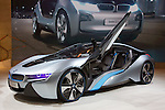 """December 30, 2011, Tokyo, Japan - BMW's """"i8 Concept"""" car is displayed at the 42nd Tokyo Motor Show. The show opens to the general public from December 3-11. (Photo by Christopher Jue/AFLO)"""
