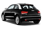 Rear three quarter view of a 2014 Audi A1 Ambition 3 Door Hatchback 2WD