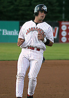 August 22, 2003:  Ryan Bear of the Jamestown Jammers, Class-A affiliate of the Florida Marlins, during a NY-Penn League game at Russell Diethrick Park in Jamestown, NY.  Photo by:  Mike Janes/Four Seam Images