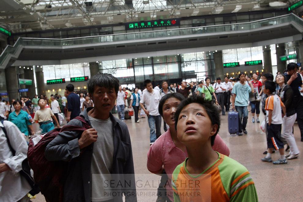 CHINA. Beijing. Scene from Beijing West Train Station. 2007.