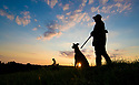 01/09/18<br /> <br /> With his dog by his side a hunter waits patiently for his first quarry of the season on farmland near Uttoxeter, Staffordshire. The first of September marks both the beginning of autumn and the start of the season for shooting duck, goose, partridge and snipe. <br />  <br /> All Rights Reserved, F Stop Press Ltd. (0)1335 344240 +44 (0)7765 242650  www.fstoppress.com rod@fstoppress.com