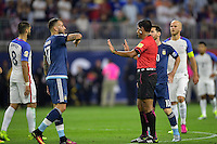 Houston, TX - Tuesday June 21, 2016: Nicolas Otamendi, Enrique Caceres during a Copa America Centenario semifinal match between United States (USA) and Argentina (ARG) at NRG Stadium.