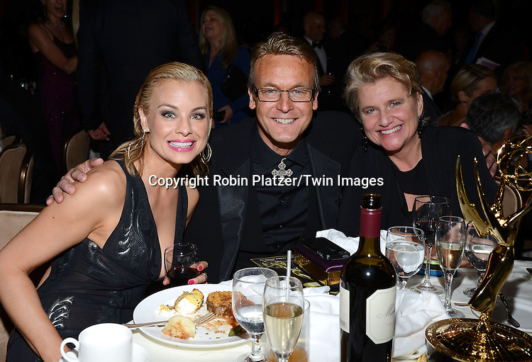 Jessica Collins, Doug Davidson and Cindy Davidson attends the 41st Annual Daytime Emmy Awards after party  on June 22, 2014 at the Beverly Hilton Hotel in Beverly Hills,California.<br /> <br /> photo by Robin Platzer/ Twin Images<br /> <br /> 212-935-0770