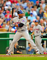 6 June 2009: New York Mets' right fielder Gary Sheffield in action against the Washington Nationals at Nationals Park in Washington, DC. The Mets fell to the Nationals 7-1 as Nats' starting pitcher John Lannan tossed his first career complete-game win. Mandatory Credit: Ed Wolfstein Photo