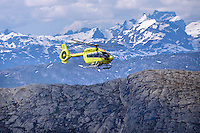 Norwegian Air Ambulance (NLA) operations from their Evenes base in Northern Norway<br />