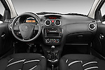 Straight dashboard view of a 2008 - 2009 Citroen C2 VTR 3 Door Hatchback 2WD