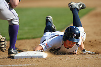 March 6 2009: Brian Humphries of the Pepperdine Waves in action against the Evansville Purple Aces at Eddy D. Field Stadium in Malibu,CA.  Photo by Larry Goren/Four Seam Images