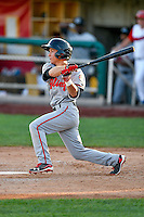 Ty Blankmeyer (11) of the Billings Mustangs at bat against the Orem Owlz in Pioneer League action at Home of the Owlz on July 25, 2016 in Orem, Utah. Orem defeated Billings 6-5. (Stephen Smith/Four Seam Images)