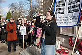 Kelly McGuinness,  FBU. Health workers, patients, local residents and trade unions take part in a Save Lewisham Hospital Campaign rally outside the hospital to protest at proposed closure of A&E and maternity services.