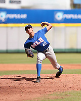 Adrian Mendez participates in the MLB International Showcase at Estadio Quisqeya on February 22-23, 2017 in Santo Domingo, Dominican Republic.