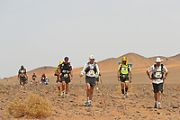 6th October 2021; Etape Mystere ;  Marathon des Sables, stage 4 of  a six-day, 251 km ultramarathon, which is approximately the distance of six regular marathons. The longest single stage is 82 km long. This multiday race is held every year in southern Morocco, in the Sahara Desert.