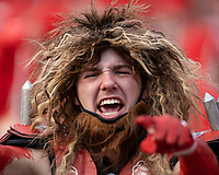 ATHENS, GA - SEPTEMBER 18: Member of the Spike Squad cheers his team before a game between South Carolina Gamecocks and Georgia Bulldogs at Sanford Stadium on September 18, 2021 in Athens, Georgia.