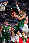 Real Madrid's player Rudy Fernandez and Unicaja Malaga's player Nemanja Nedovic and Dejan Musli during match of Liga Endesa at Barclaycard Center in Madrid. September 30, Spain. 2016. (ALTERPHOTOS/BorjaB.Hojas)
