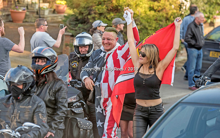 Prodigy fans  and motorcyclists turn out for the  funeral of Prodigy singer Keith Flint at St Marys Church in Bocking,  Essex today.