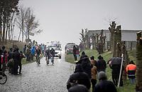 breakaway group at the end of the Haaghoek cobbled section<br /> <br /> 75th Omloop Het Nieuwsblad 2020 (1.UWT)<br /> Gent to Ninove (BEL): 200km<br /> <br /> ©kramon