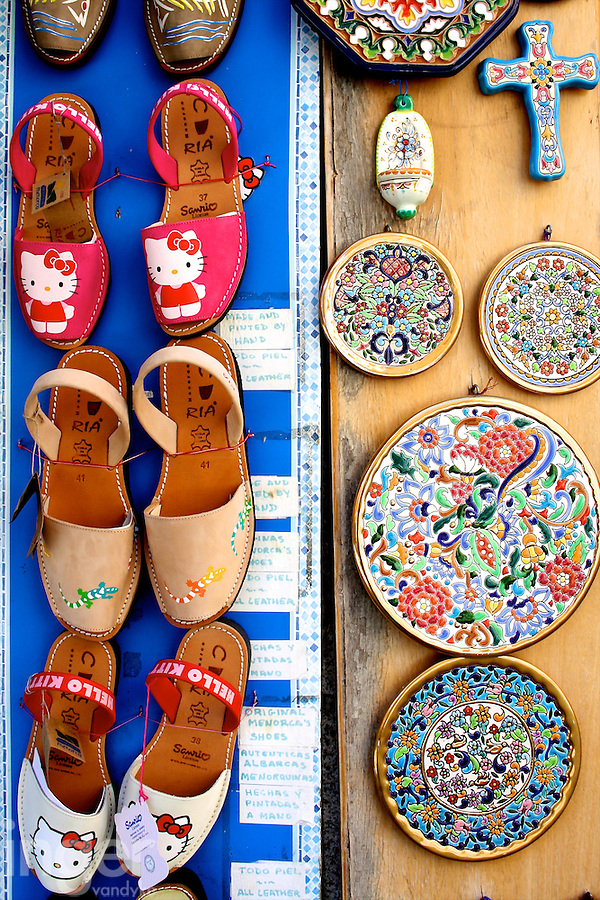 Shoes and Ceramics for Sale in Toledo, Spain