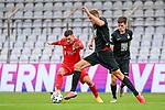 v.li.: Leon Dajaku (Bayern München, FCB, 7) Kevin Kraus (Kaiserslautern, 5) im Zweikampf, Duell, duel, tackle, Dynamik, Action, Aktion beim Spiel in der 3. Liga, FC Bayern München II -1. FC Kaiserslautern.<br /> <br /> Foto © PIX-Sportfotos *** Foto ist honorarpflichtig! *** Auf Anfrage in hoeherer Qualitaet/Aufloesung. Belegexemplar erbeten. Veroeffentlichung ausschliesslich fuer journalistisch-publizistische Zwecke. For editorial use only. DFL regulations prohibit any use of photographs as image sequences and/or quasi-video.