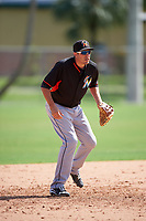 Miami Marlins Matt Juengel (24) during a minor league Spring Training intrasquad game on March 31, 2016 at Roger Dean Sports Complex in Jupiter, Florida.  (Mike Janes/Four Seam Images)