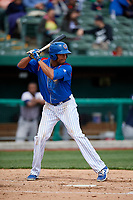 South Bend Cubs left fielder Kevonte Mitchell (25) at bat during a game against the Kane County Cougars on May 3, 2017 at Four Winds Field in South Bend, Indiana.  South Bend defeated Kane County 6-2.  (Mike Janes/Four Seam Images)