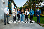 Mercy Mounthawk, Tralee students who achieved the maximum 625 points in the leaving certificate exam, from left: John O'Rourke, Principal, Grainne Carmody, Clara Carroll, Keela Hughes, Kate Waldron, Patrick Nolan and Pat Flemming, Vice Principal.