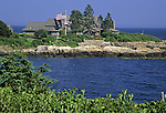 Walkers Point, the summer home of George H. W. Bush, 41st President of the United States in Kennebunkport, Maine, USA.