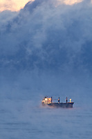 """Ship among the Sea Smoke""<br />