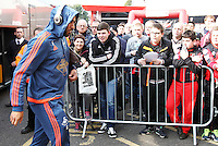 Ashley Williams of Swansea City arrives before the Barclays Premier League match between AFC Bournemouth and Swansea City played at The Vitality Stadium, Bournemouth on March 12th 2016
