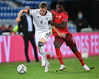 6th August 2020, Basel, Switzerland. UEFA National League football, Switzerland versus Germany;   Matthias Ginter (ger) challenges Breel Embolo (sui)