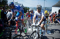 World Champion Michal Kwiatkowski (POL/Ettix-Quickstep) up the infamous Mur de Huy (1300m/9.8%)<br /> <br /> 79th Flèche Wallonne 2015