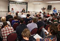 13-02-12, Netherlands,Tennis, Rotterdam, ABNAMRO WTT, Persconferentie Roger Federer