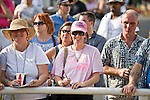 24-Jul-10: Track patrons gathering in the paddock to see Rachel Alexandra.