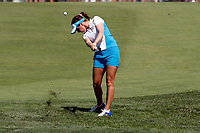 6th September 2021: Toledo, Ohio, USA;  Georgia Hall of Team Europe hits her approach shot on the first hole in single matches during the Solheim Cup on September 6, 2021 at Inverness Club in Toledo, Ohio.