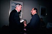 April 1988 File Photo - Paul Desmarais (L) and Charles Bronfman (R)<br /> <br /> Desmarais passed away October 2013<br /> <br /> PHOTO :  Agence Quebec Presse