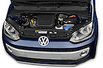 Car Stock2014 Volkswagen up! Cross up! 5 Door Hatchback 2WD Engine high angle detail view