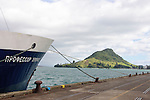The expedition vessel, Spirit of Enderby, tied up at Mount Maunganui.