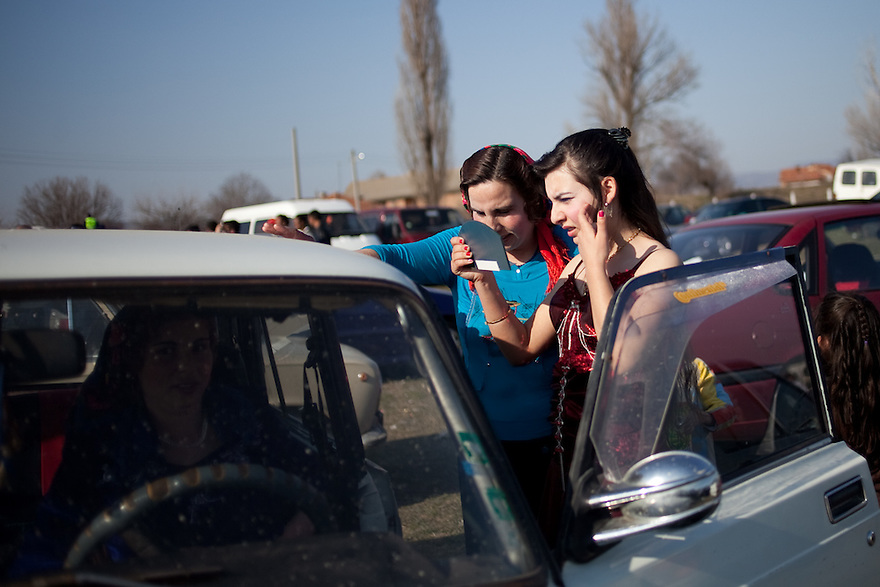 Kalaidzhii Women --For a Story by Matthew Brunwasser -Female Factor series- on nomadic Tinkerers of Thrace .[Caption : ]Mogila, Bulgaria, Kalaidzhii (8 km east of Stara Zagora) March 12, 2010. Describe the scene in the frame…etc etc…etc…etc..etc ALL people in the frame MUST be identified (L to R) name/surname as well as what they do… .[Credit:] //// JODI HILTON for the International Herald Tribune