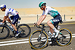 Pascal Ackermann (GER) Bora-Hansgrohe during Stage 1 of the 2021 UAE Tour the ADNOC Stage running 176km from Al Dhafra Castle to Al Mirfa, Abu Dhabi, UAE. 21st February 2021.  <br /> Picture: Luca Bettini/BettiniPhoto | Cyclefile<br /> <br /> All photos usage must carry mandatory copyright credit (© Cyclefile | Luca Bettini/BettiniPhoto)